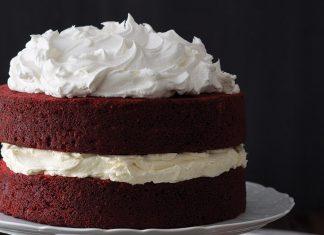 Red Velvet Cake with Cream Cheese Filling