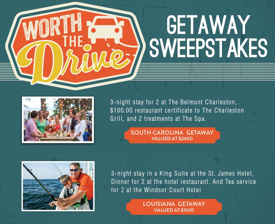 Worth the Drive Sweepstakes