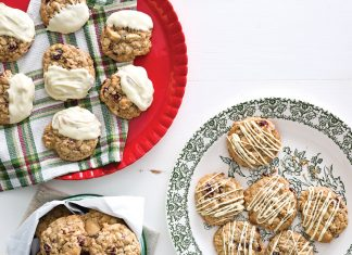Oatmeal-Cranberry-White Chocolate Cookies