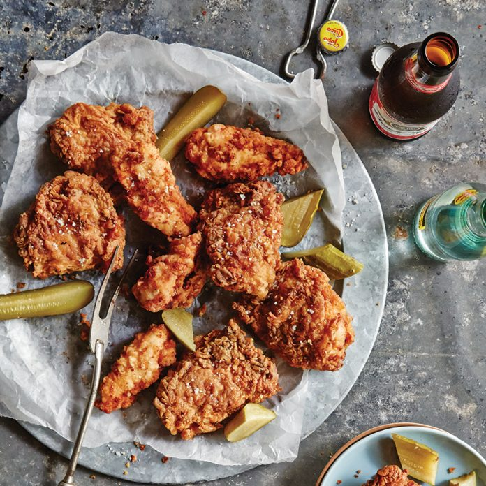 Pickle-Brined Fried Chicken with Sriracha Honey