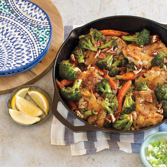 Chicken and Broccoli Skillet Supper