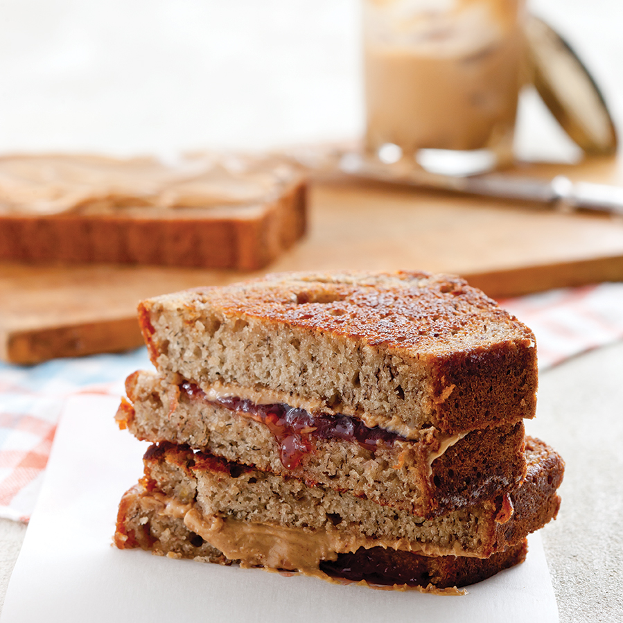 Grilled Peanut Butter and Banana Bread Sandwiches - Taste of the South