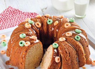 Caramel-Apple Jacks Bundt Cake