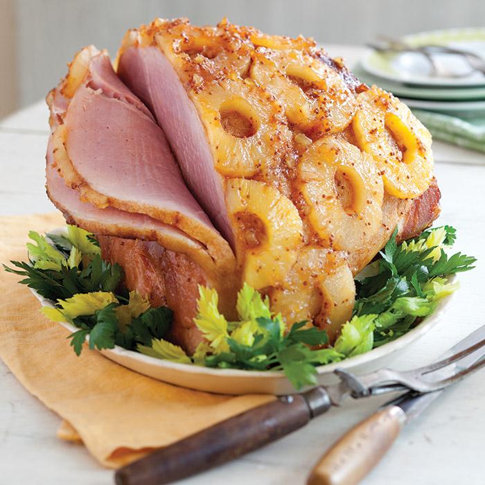 Spicy Pineapple Glazed Ham