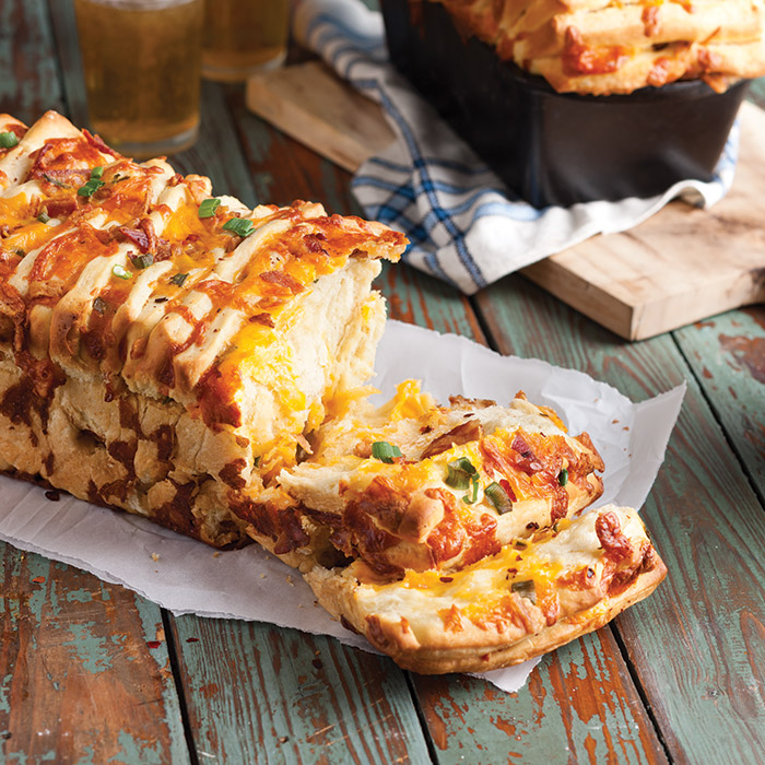 Bacon-Cheddar Pull-Apart Bread - Taste of the South