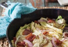 Cider Roasted Cabbage with Bacon