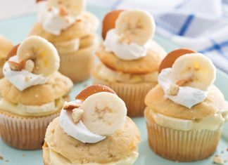 Banana Pudding Filled Cupcakes
