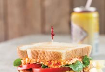 Fried Green Tomato and Pimiento Cheese BLT