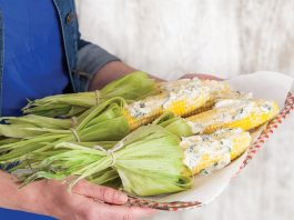 Summer Corn with Basil Butter