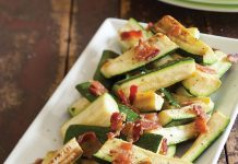 Zucchini with Bacon