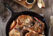 Bourbon Apple Pork Chop