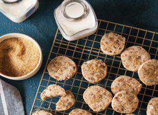 Slice and Bake Butter Pecan Cookies