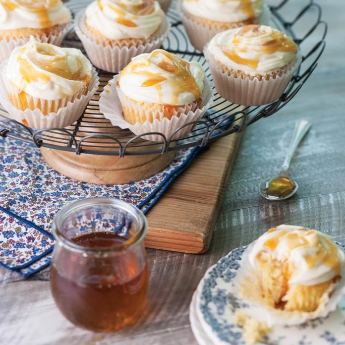 Honey-Cornmeal Cupcakes