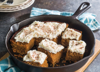 Skillet Gingerbread Cake with Brown Butter Frosting