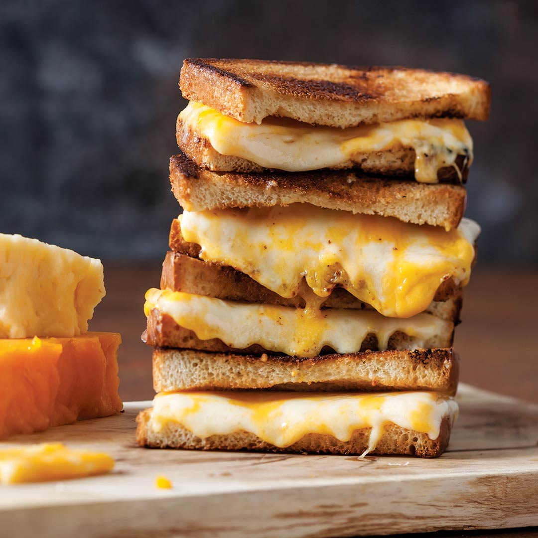 Grilled Three Cheese Sandwiches Taste Of The South