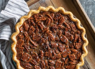 SALTED CARAMEL AND CHOCOLATE PECAN PIE