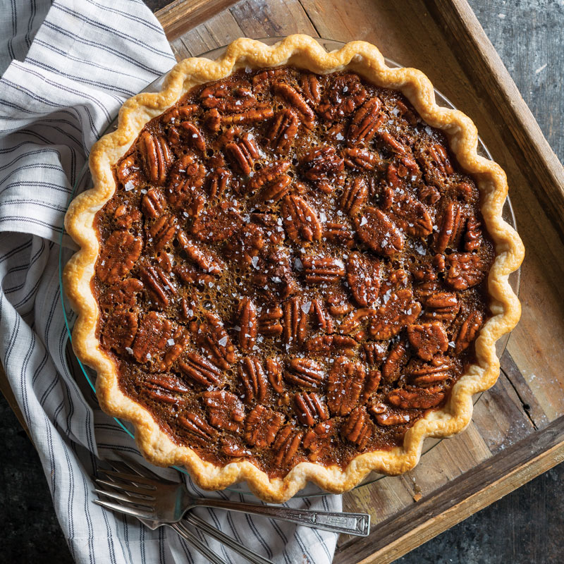 Salted Caramel and Chocolate Pecan Pie - Taste of the South