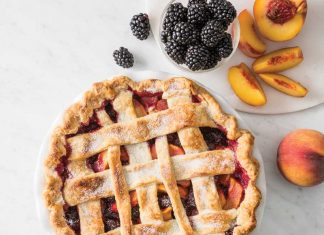 Deep-Dish Peach-Blackberry Pie