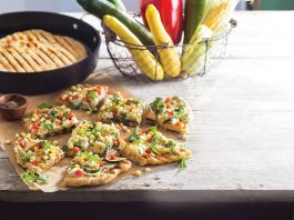 Vegetable Pizzas with Goat Cheese