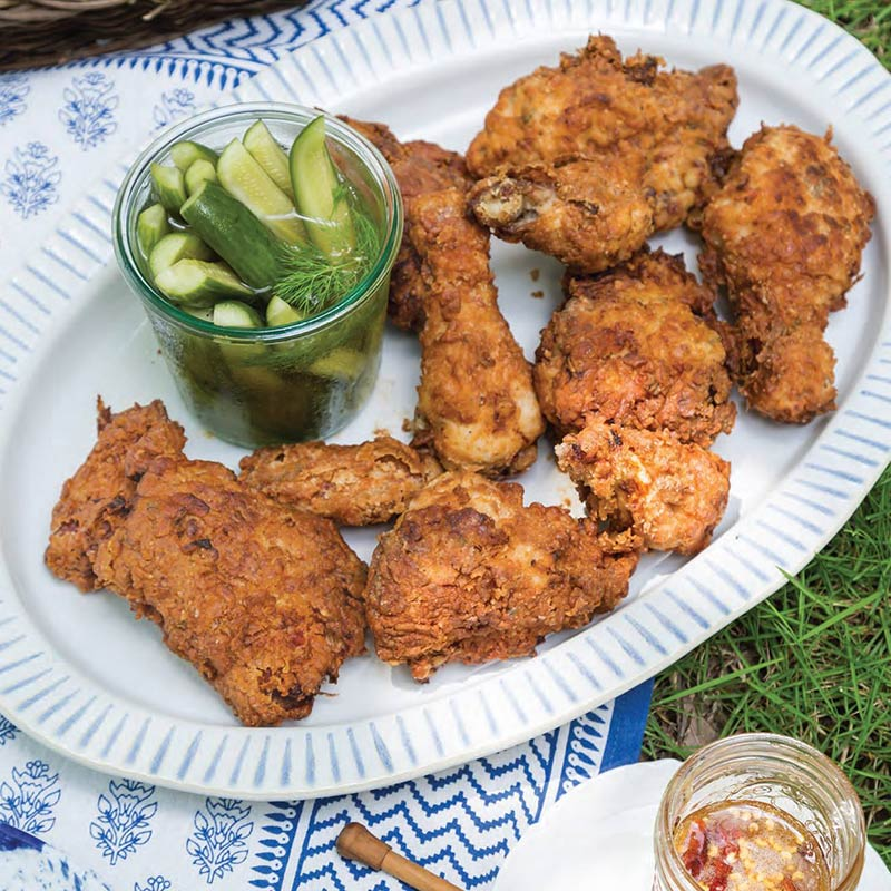 Fried Chicken With Spicy Honey